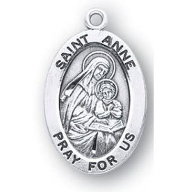 HMH Religious Saint Anne Oval Sterling Silver Medal