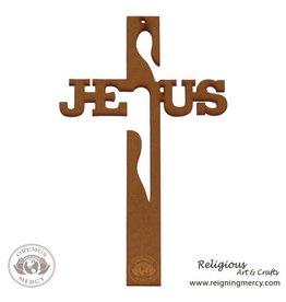 "Oremus Mercy Jesus Cross Laser Art 10.25"" x 6.5"""