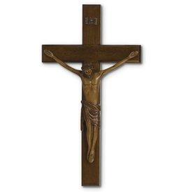 "HJ Sherman 12"" Mahogany Resin Crucifix"
