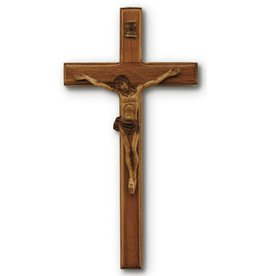 "HJ Sherman 6"" Mahogany/Resin Crucifix"