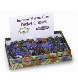 HJ Sherman Glass Pocket Cross - Assorted Colors