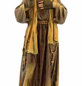 Avalon Gallery Patron Saint Padre Pio Pius Resin Statue Figurine, 7 7/8 Inch