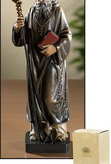 Avalon Gallery Patron Saint Benedict Resin Statue Figurine