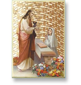 WJ Hirten First Communion Mosaic Plaque (Girl)