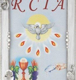 "WJ Hirten 6"" x 4"" Silver Plated Pearlized RCIA Frame"