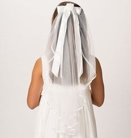 "25"" Long Charlotte First Communion Veil"