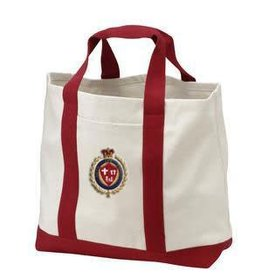 Faith Life Family Faith Life Family 2-Tone Shopping Tote (Tan and Red)