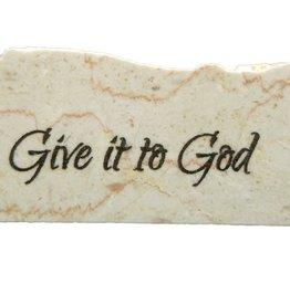 Holy Land Stone Give it to God - Promise Stone