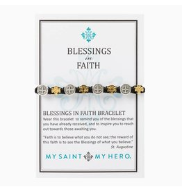 My Saint My Hero Blessings in Faith Bracelet - White/Mixed
