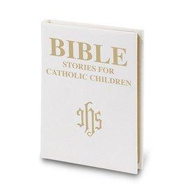 WJ Hirten Bible Stories for Catholic Children - Deluxe White Padded Leatherette Version