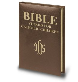 WJ Hirten Deluxe Brown Padded Leatherette Version Bible Stories for Catholic Children