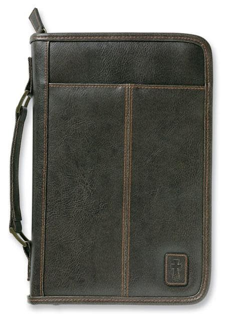 Zondervan Aviator Leather-Look Brown Large Book and Bible Cover