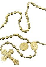 Roman Catholic Gear Combat Rosary Gold Tone