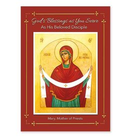 The Printery House Mary Mother of Priests Ordination Congratulations Card