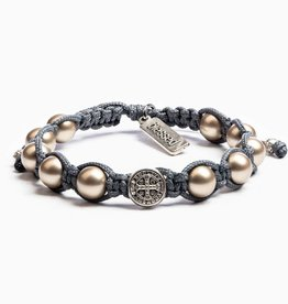 My Saint My Hero Divine Blessings Bracelet Slate Grey