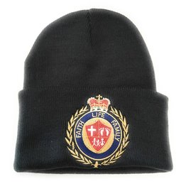 Faith Life Family Black Men's Knit Cap/Women's Beanie with Faith Life Family Crest