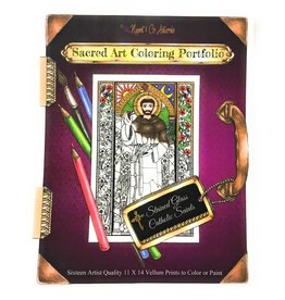 Nippert & Co. Artworks Sacred Art Coloring Portfolio - Catholic Saints