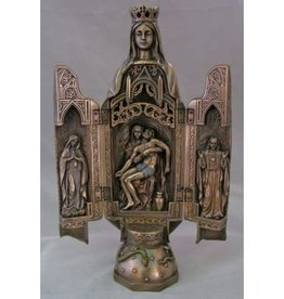 "Goldscheider of Vienna 11"" Our Lady of Sorrows Bronze Triptych from the Veronese Collection"