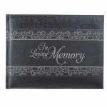 Christian Art and Gifts In Loving Memory Guest Book - Black