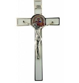 """Lumen Mundi 8"""" White First Communion Crucifix"""