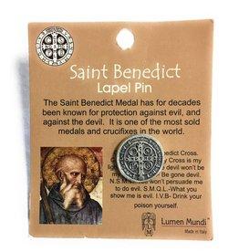 Lumen Mundi St. Benedict Medal Lapel Pin