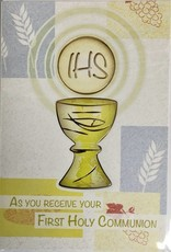 Wj hirten as you receive your first holy communion greeting card wj hirten as you receive your first holy communion greeting card m4hsunfo