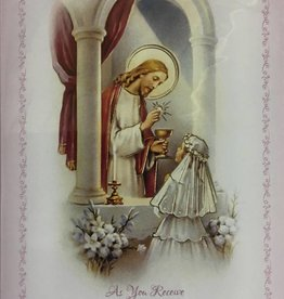 WJ Hirten As You Receive Your First Holy Communion (Girl) Greeting Card