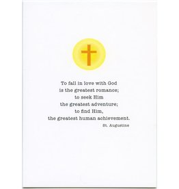 Pio Prints To Fall In Love With God... St. Augustine Priest Anniversary Card