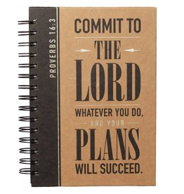 Christian Art and Gifts Commit to the Lord - Proverbs 16:3 Wirebound Journal