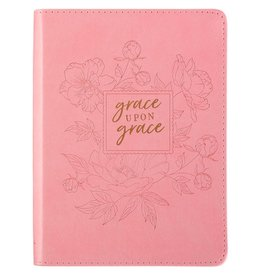 Christian Art and Gifts Grace Upon Grace - John 1:16 Classic Luxleather Journal