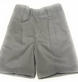 Elderwear Elderwear 4026LG Girls Grey Pleated Front School Uniform Shorts, Size 6x, Traditional Fit