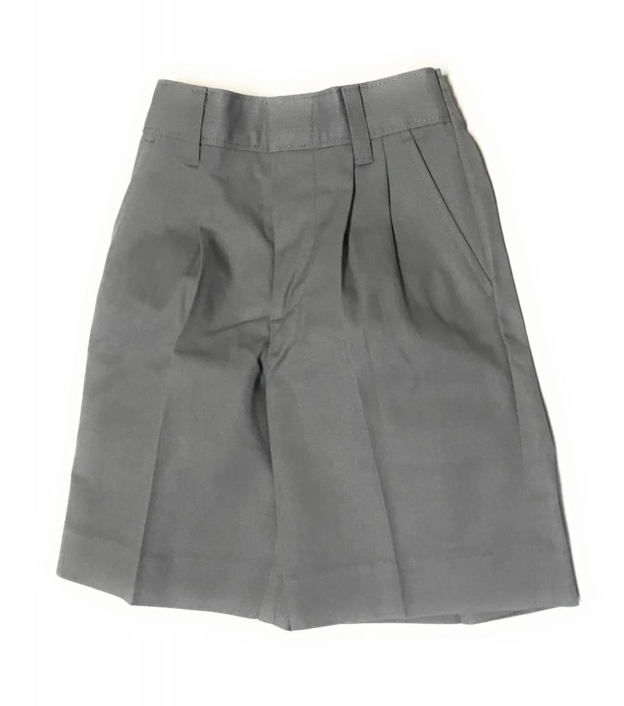 Elderwear Elderwear 1286JS Grey Pleated School Uniform Shorts, Size 6, Slim