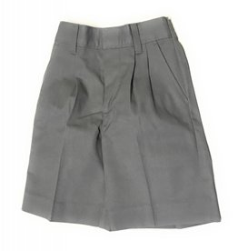 Elderwear Elderwear 1286JR Grey Pleated School Uniform Shorts, Size 7 Waist 23, Traditional Fit