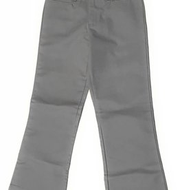 Elderwear Elderwear 4025GR Girls Grey Flat Front School Uniform Slacks, Size 7, Regular Fit