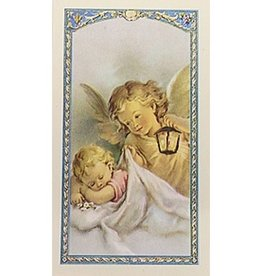 WJ Hirten Now I Lay Me Down To Sleep - Guardian Angel - Prayer Card