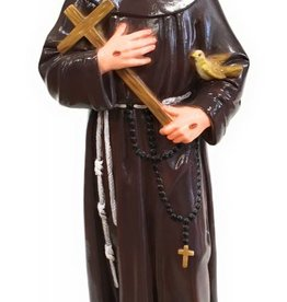 """Moshy Brothers, Inc 24"""" St. Francis Cement Painted Statue"""