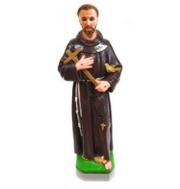 "Moshy Brothers, Inc 24"" St. Francis Cement Painted Statue"