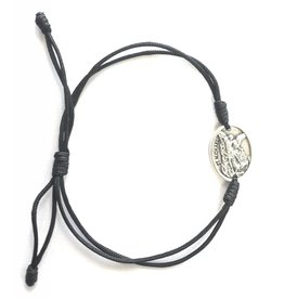 Abundant Blessings St. Michael Double Cord Bracelet - Black