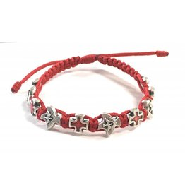 Abundant Blessings Holy Spirit Confirmation Corded Bracelet - Red