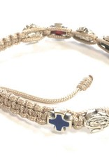 Abundant Blessings Our Lady of Guadalupe Pro Life Corded Bracelet - Tan