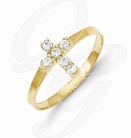 Quality Gold Inc. Childrens 14k Cross Baby Ring