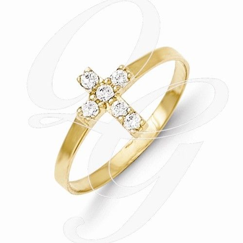 Quality Gold Inc. Childrens 14k Cross Baby Ring