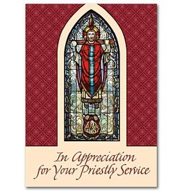 The Printery House In Appreciation Of Your Priestly Service - Priest Appreciation Greeting Card