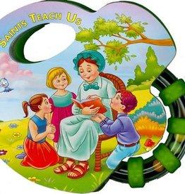 Catholic Book Publishing Corp Saint Teach Us, Rattle Board Books
