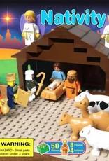 Trinity Toyz Trinity Toyz Nativity Set Building Blocks (50 Pieces + 8 Figures + 4 Animals)