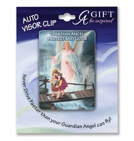 Cathedral Art Guardian Angel Full Color Visor Clip