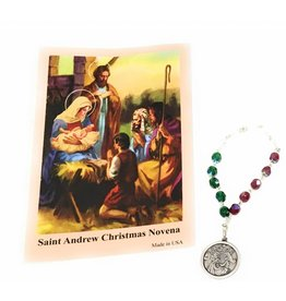 Wallace Brothers Manufacturing St. Andrew Christmas Chaplet with Prayer Card