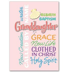 The Printery House Granddaughter Baptism Card