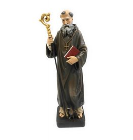 "Avalon Gallery 8"" St. Benedict Resin Statue"