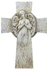 "Roman, Inc 9.25"" Garden Angel Wall Cross"